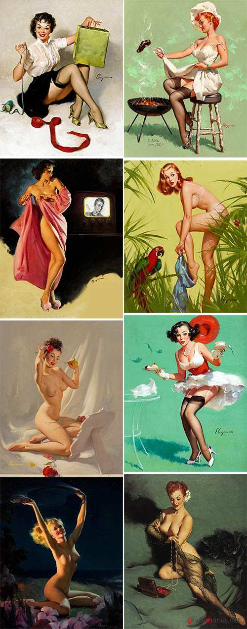 Artist Illustrator Gil Elvgren  (Pin-Up )
