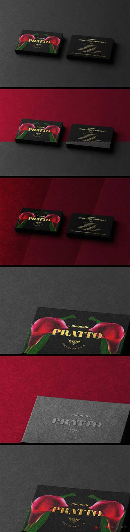 Two Black and Gold Business Cards Mockup 2 130437460 PSDT