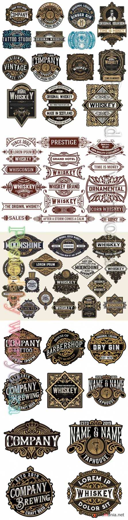 Labels and banners vector collection