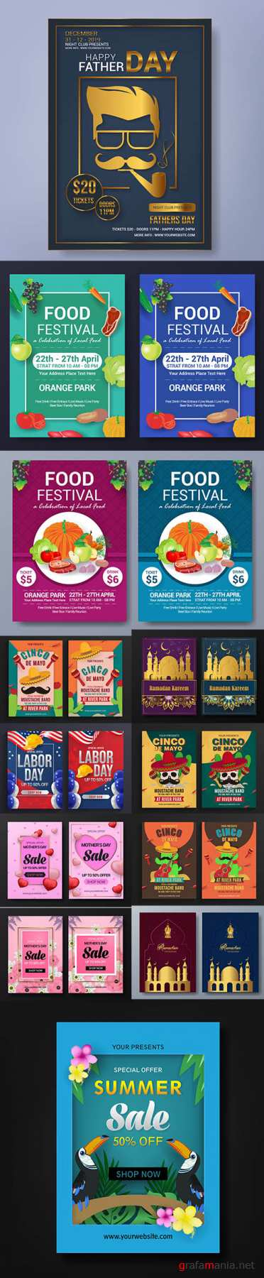 Mix Flyer Template Bundle