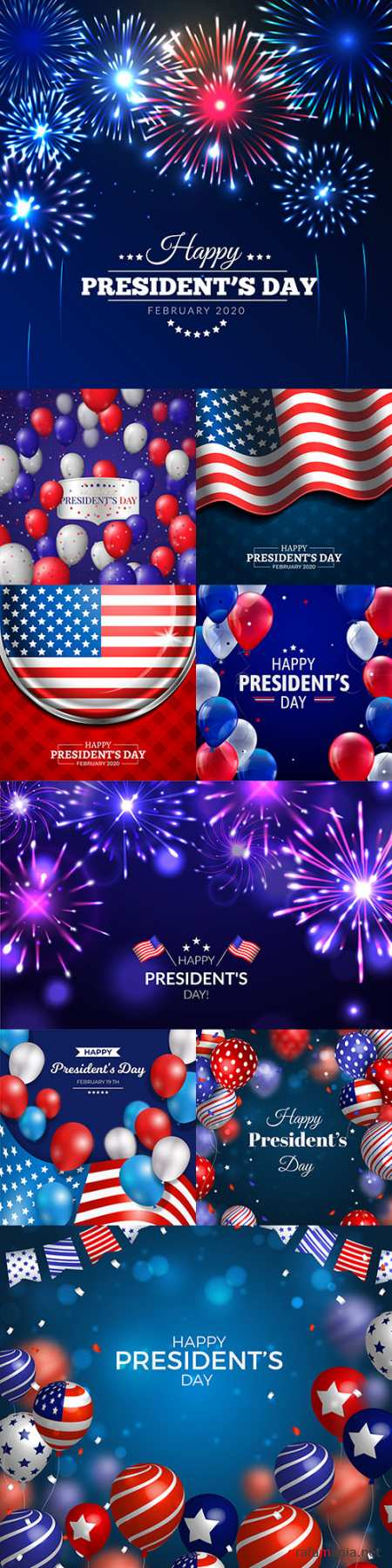 Happy President's Day decorative design illustrations 7