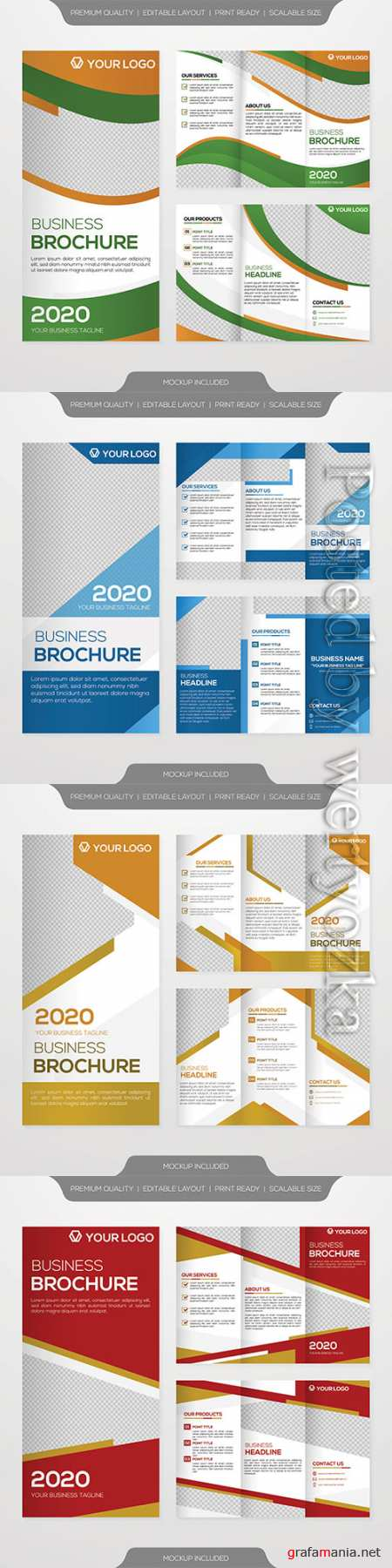 Trifold brochure template vector design and modern concept