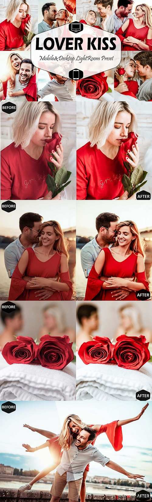 Lover Kiss Photoshop Actions, ACR Presets, romance valentine  - 431692