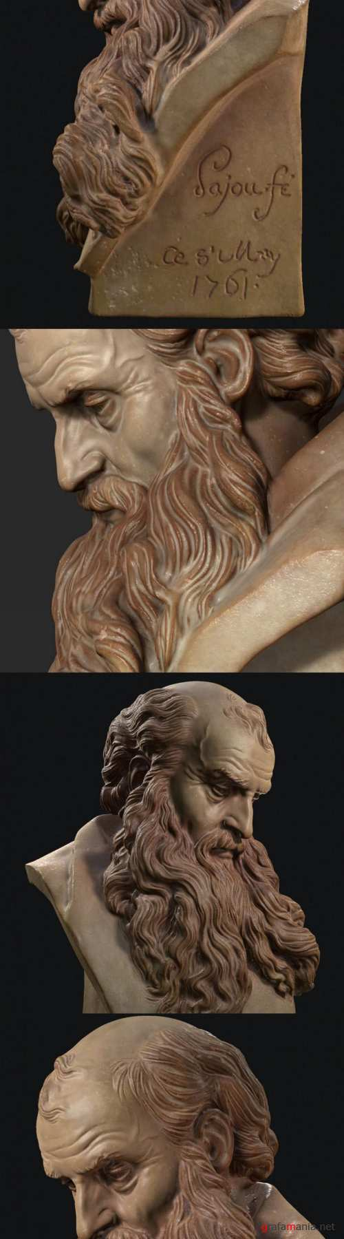 Old Man Marble Bust