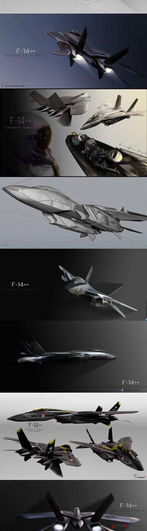 F14 Stealth Concept 3D Model