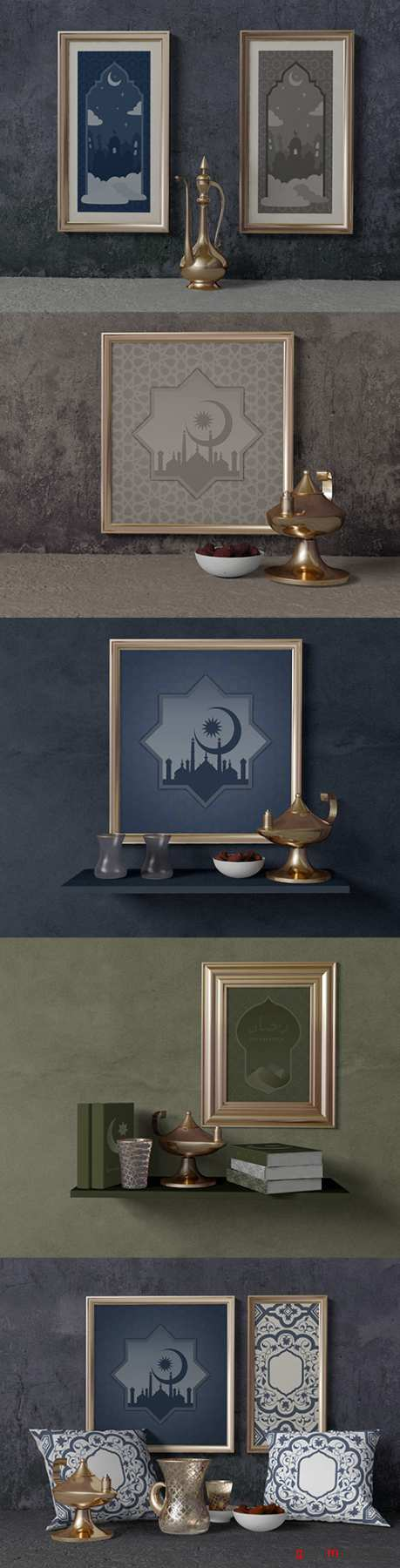 Ramadan composition with frame and cushions template 2