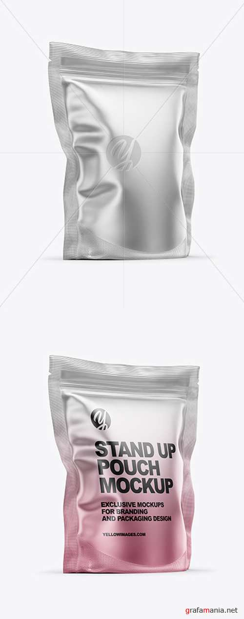Matte Metallic Stand Up Pouch Bag Mockup 54841 TIF