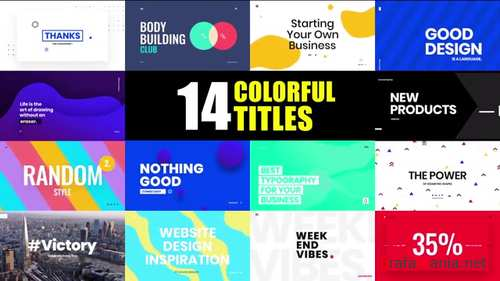 14 Colorful And Creative Animated Titles 122105569