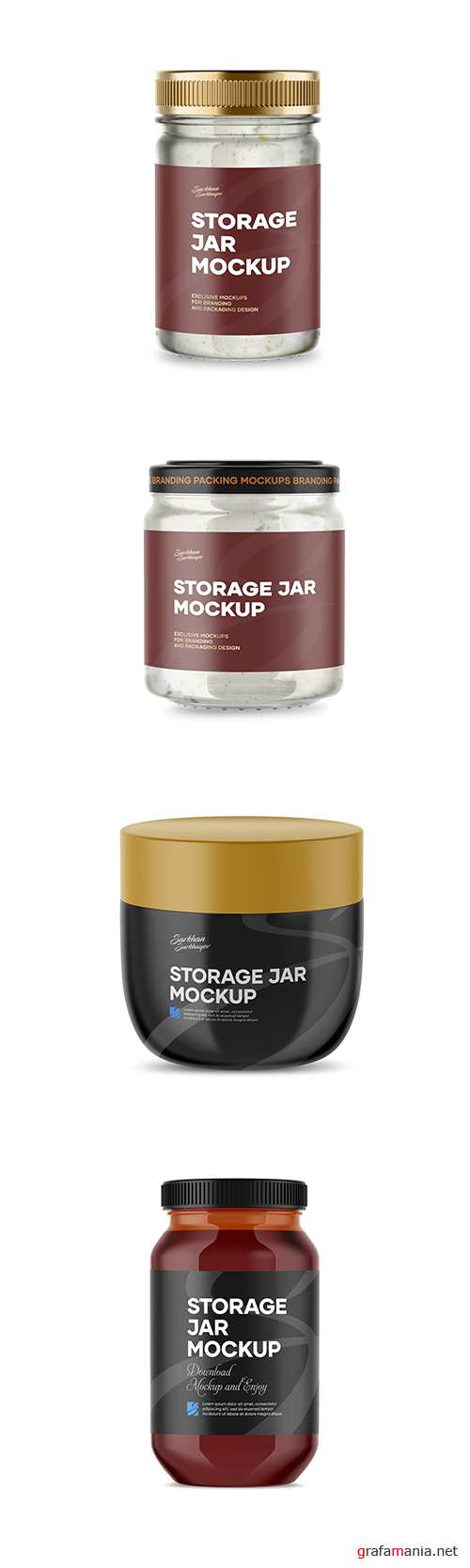 Storage Jar Mockup Template