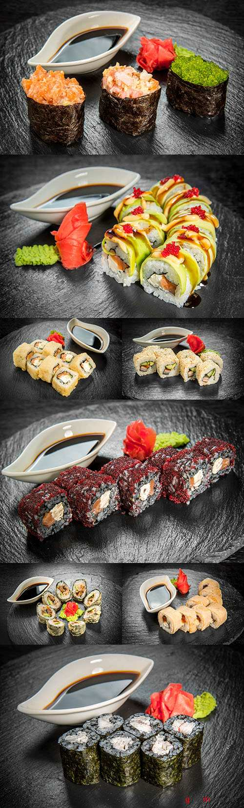 Japanese cuisine with fresh seafood and sauce
