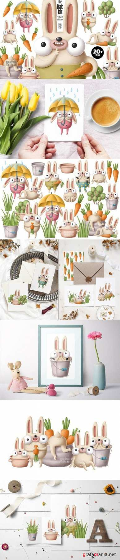 Rabbit clipart collection - 4425958