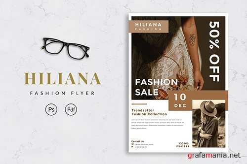 Fashion Flyer Template - [code YP] PSD