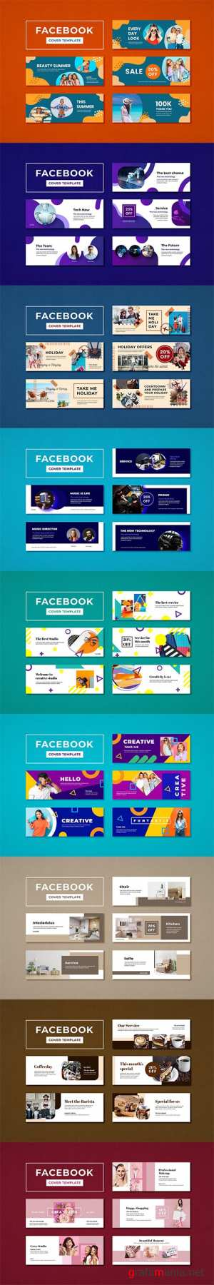 Facebook Covers Templates Pack PSD