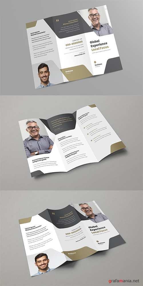 Multipupose trifold brochure PSD