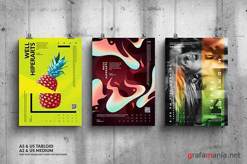 Music & Art Events Big Posters Design Bundle PSD