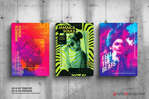 Music & Art Events Big Posters Design Bundle 2 PSD