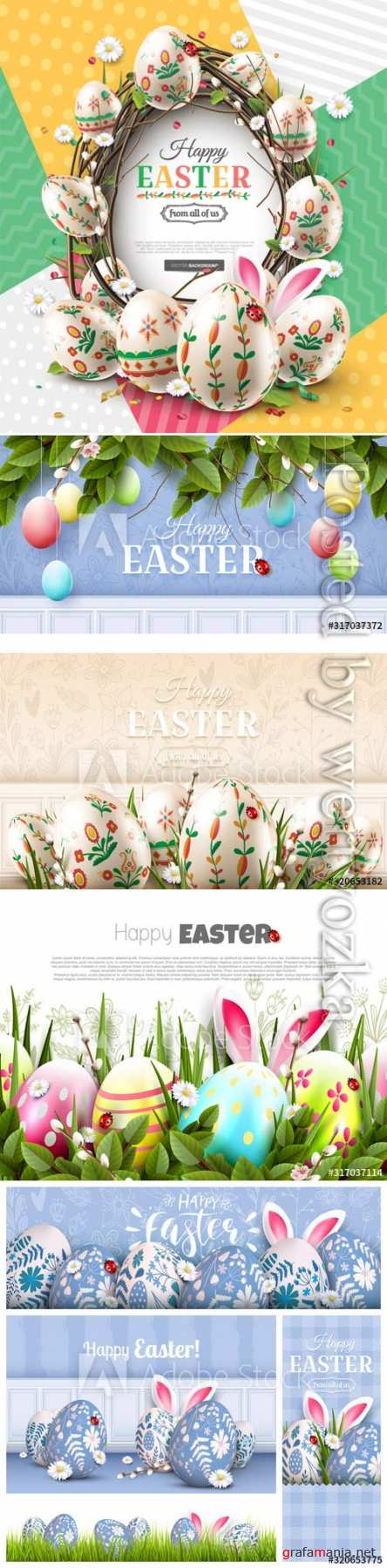 Happy Easter colorful template