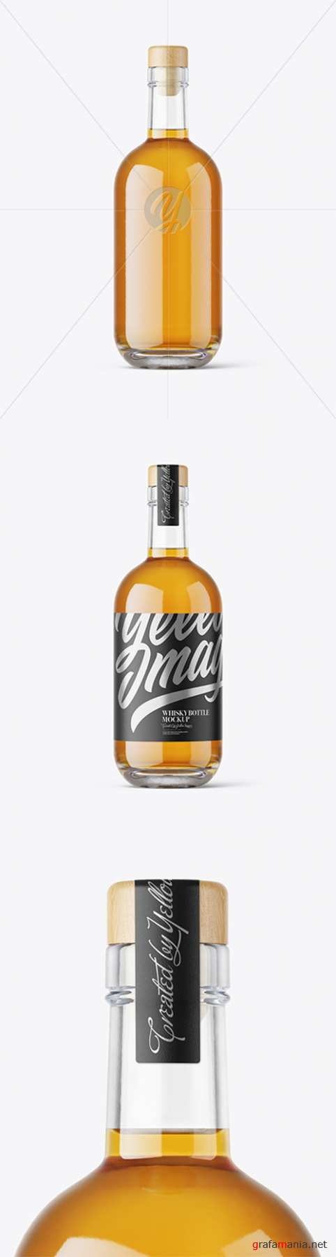 Clear Glass Whisky Bottle mockup 54915