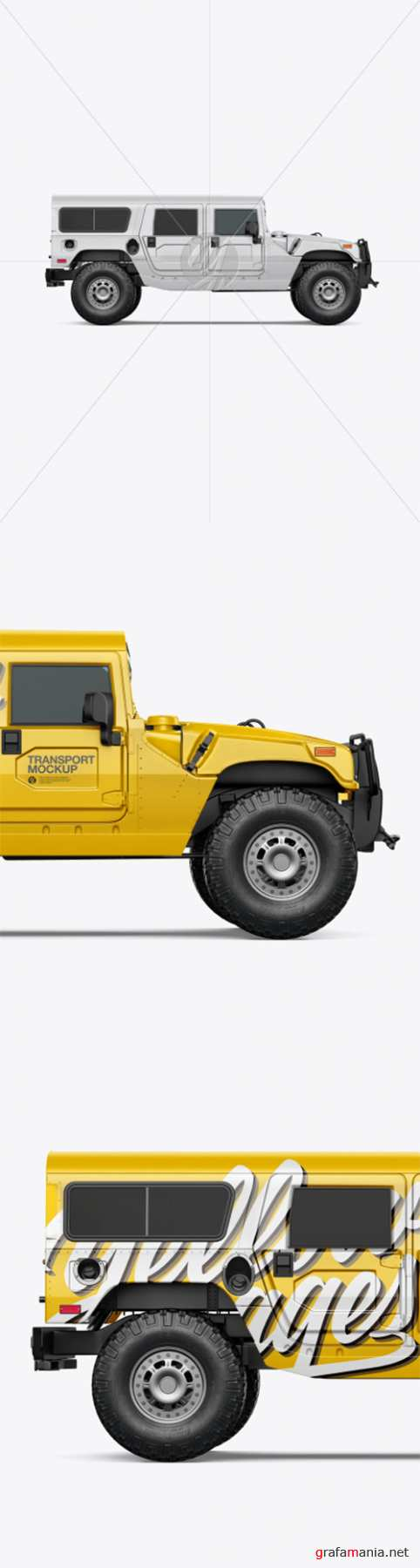 Off-Road SUV Mockup - Side View 55232