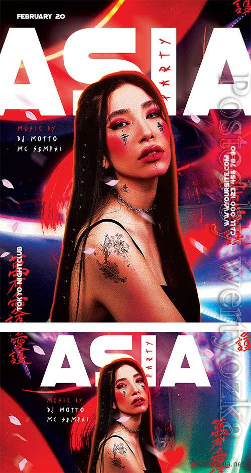 Asia Party - Premium flyer psd template