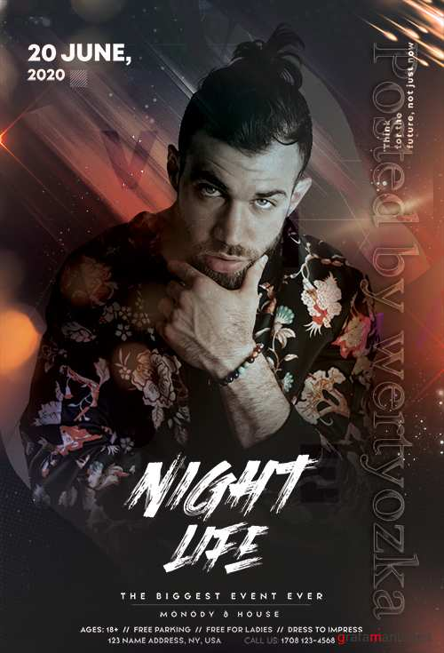Night Life Vibe - Premium flyer psd template