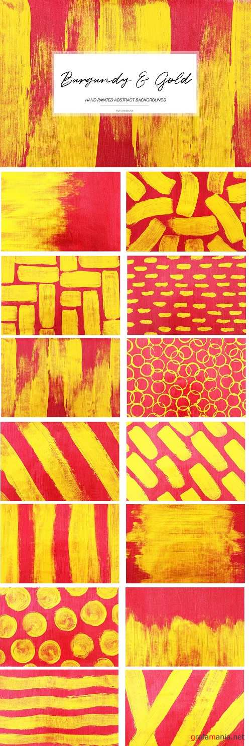 Burgundy & Gold Abstract Backgrounds - 4588340