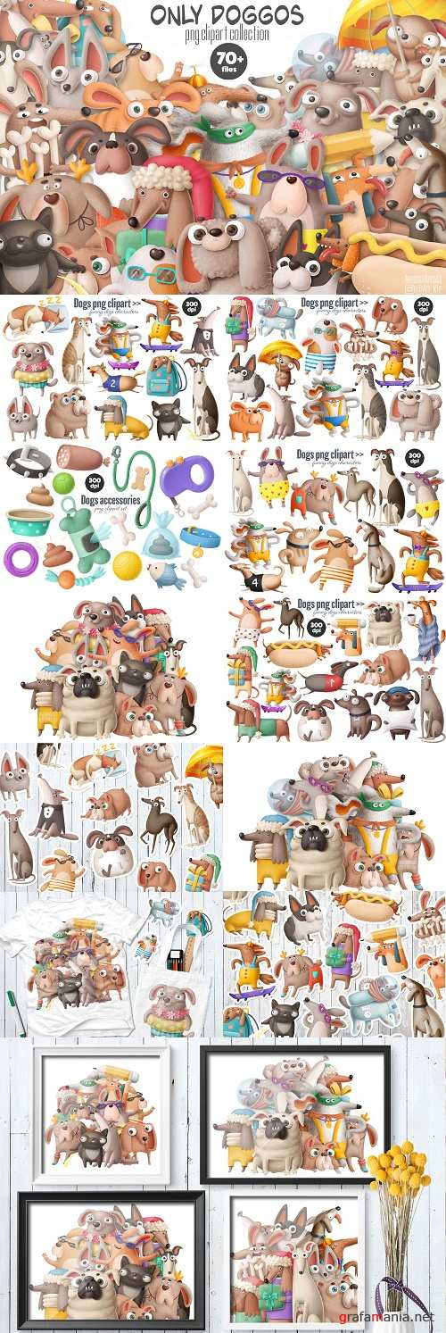 Collection of dogs characters - 4178919