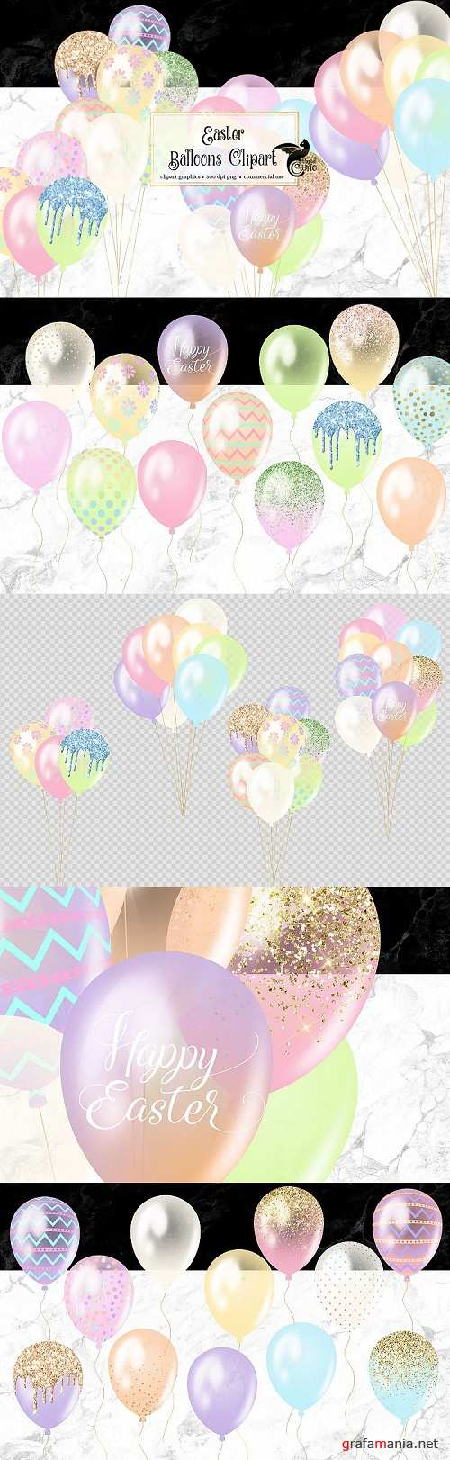 Easter Balloons Clipart  - 476440
