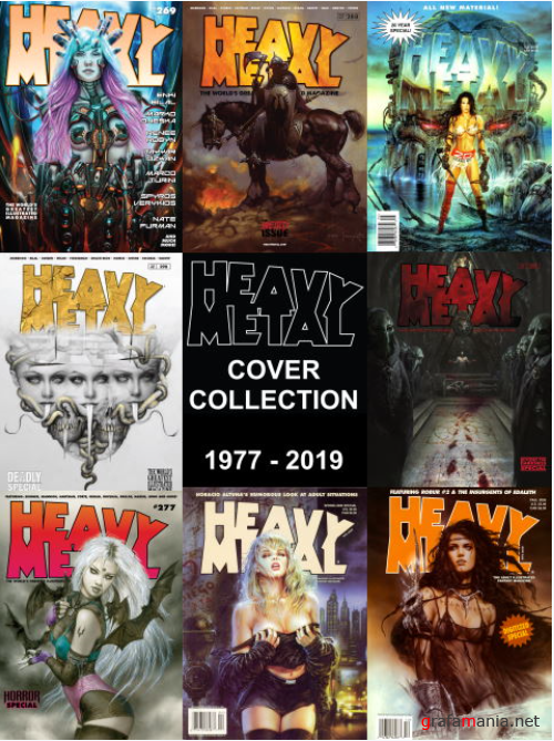 Heavy Metal Magazine Cover Collection (1977-2019)
