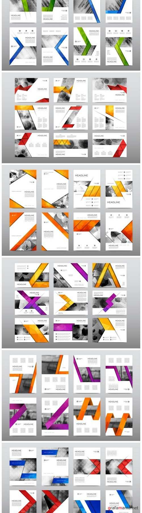 Business flyer and corporate templates - 8xEPS