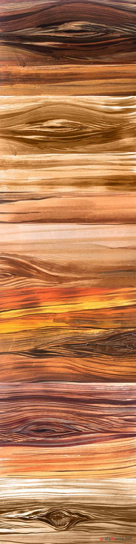 Abstract brown wooden design watercolor texture
