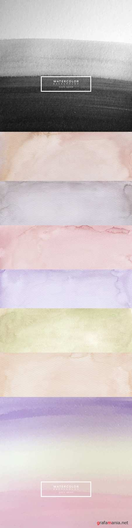 Watercolor texture background design soft colored