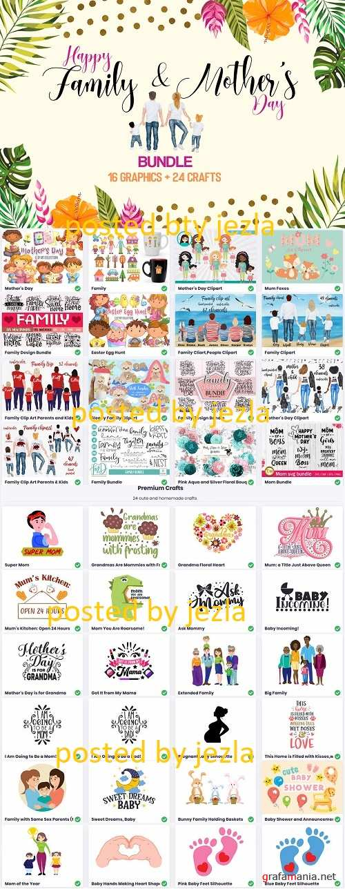 Happy Family and Mother's Day Bundle - Premium Graphics and Crafts