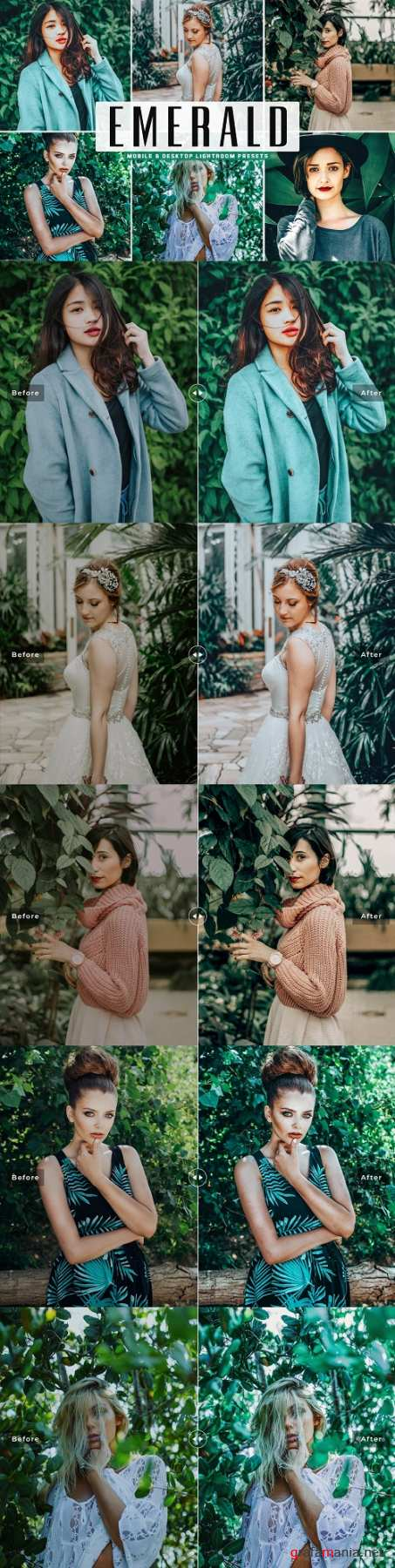 Emerald Lightroom Presets Pack - 4663808 - Mobile & Desktop