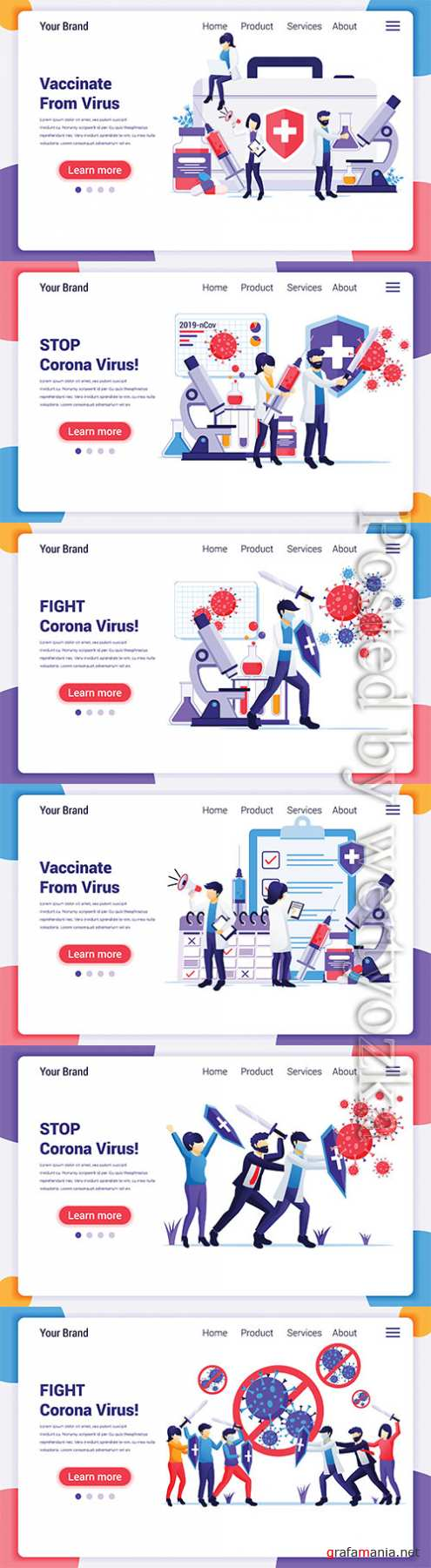 People fight with virus, fight Covid-19, vaccine cure for Corona virus concept