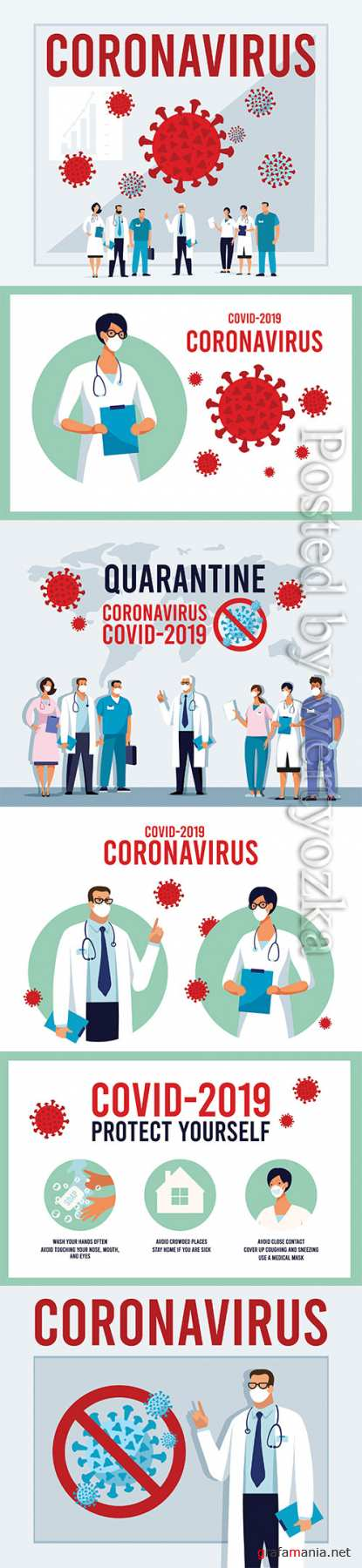 Novel coronavirus 2019-nCoV Conceptual vector illustration