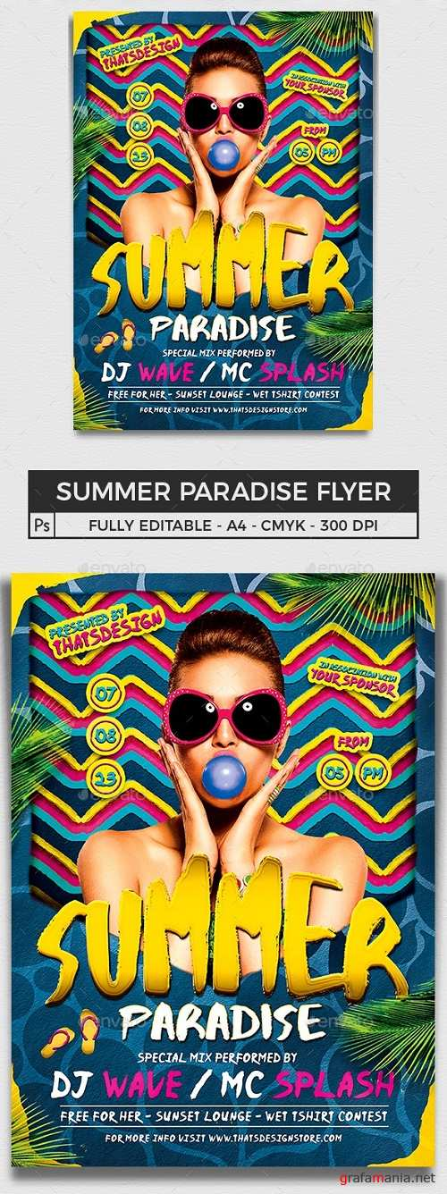 Summer Paradise Flyer Template - 15953769 - 659503