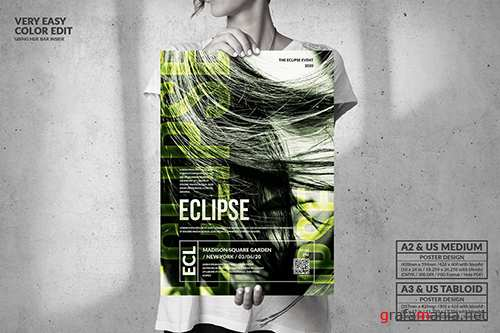 Eclipse Music Event - Big Party Poster Design
