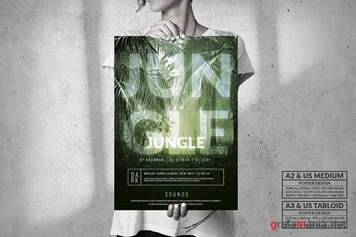 Dark Jungle Music Event - Big Party Poster Design