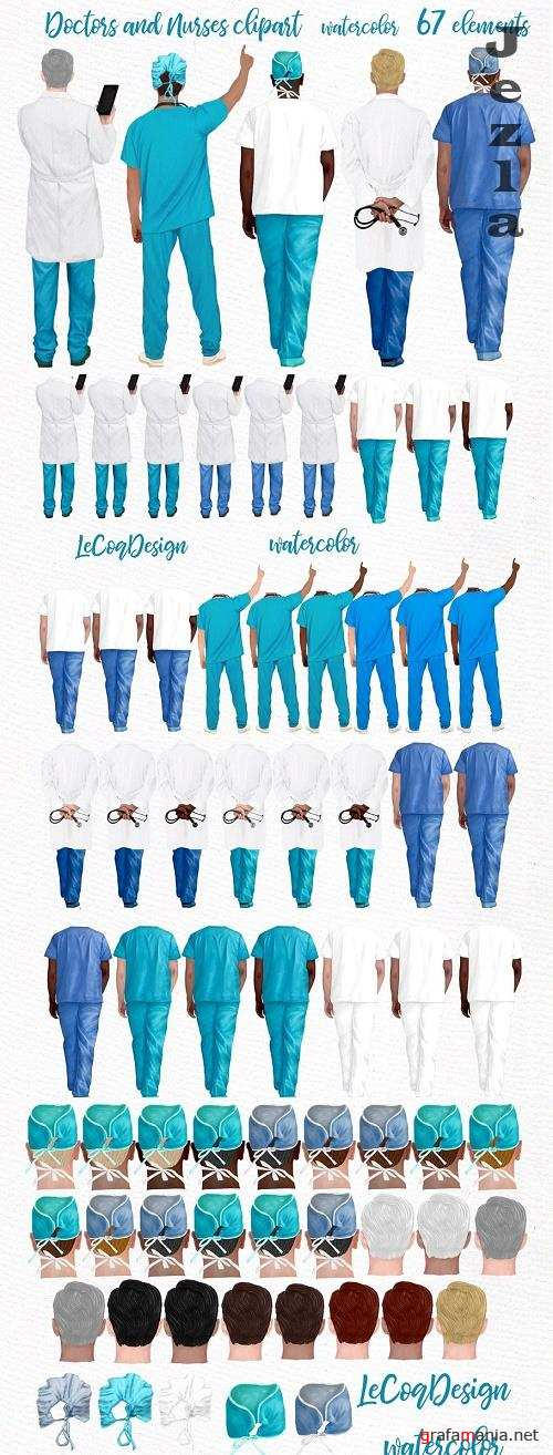 Doctors clipart,Nurses Scrubs - 4740927