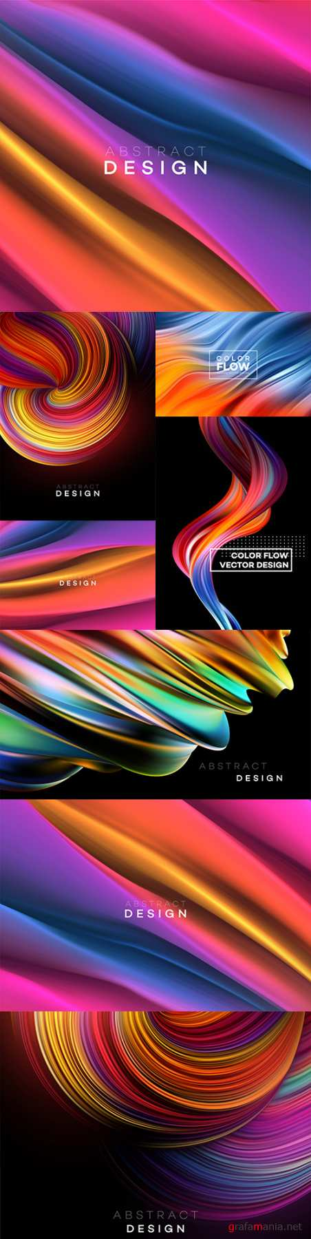 Modern design color flow form abstract background