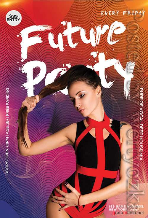Future Club Party - Premium flyer psd template