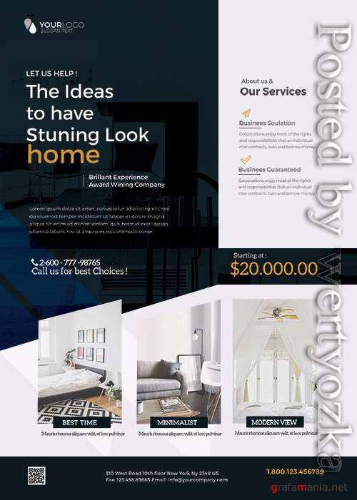 Interior Design and Furniture - Premium flyer psd template