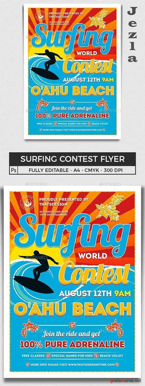 Surfing Contest Flyer Template  - 16693542 - 743171