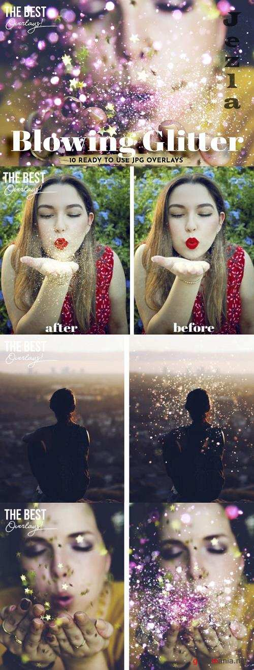 Blowing Glitter Overlays - The Best Overlays' original Photography Effects