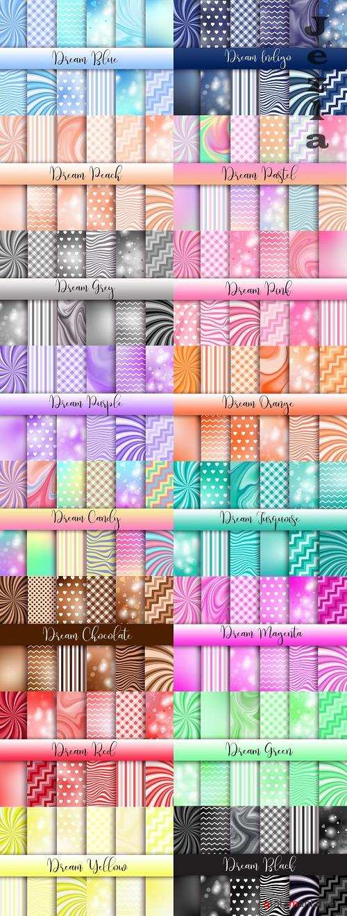 Dream Backgrounds - Black, Blue, Candy, Chocolate, Green, Grey, Indigo, Magenta, Orange, Pastel, Peach, Pink, Purple, Red, Turquoise, Yellow