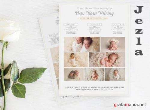 Price Guide Photography Flyer Template