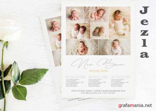 New Born Price Guide Photography Flyer