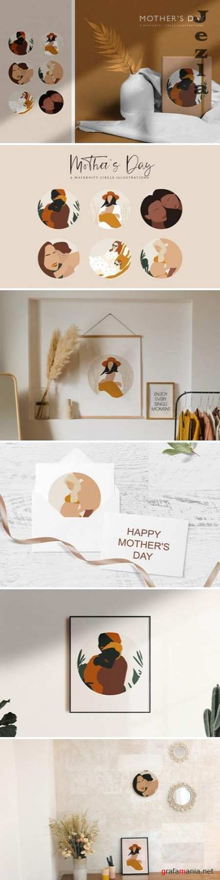 Mother's Day Abstract Illustrations - 4748020