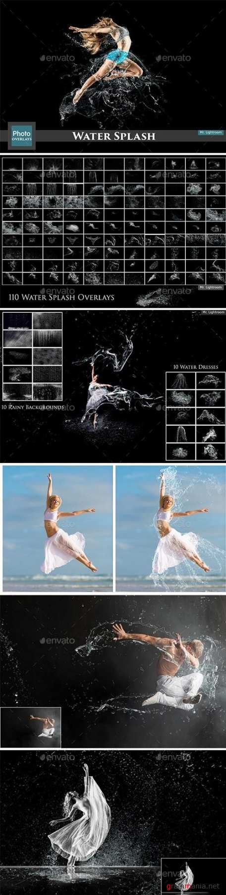130 Water Splash Photo Overlays - 60 - Colorful Powder Explosion Overlays  - 26117723 - 4667763